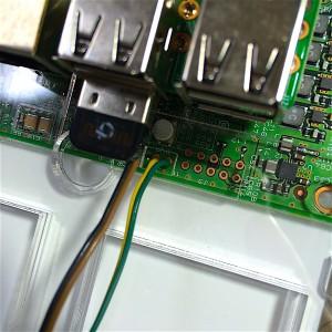 IGZOパネルLEDバックライト制御ジャンパーJ4